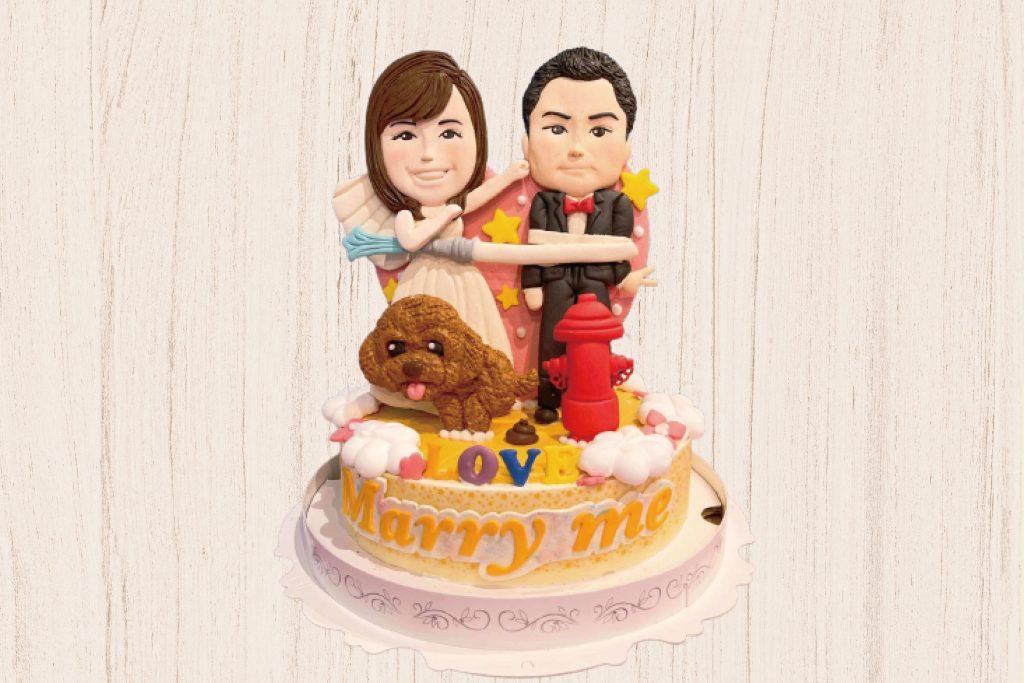 直立式生日造型蛋糕、新婚蛋糕、結婚蛋糕-客製化生日蛋糕   米爾利甜點創作 Meler Patisserie