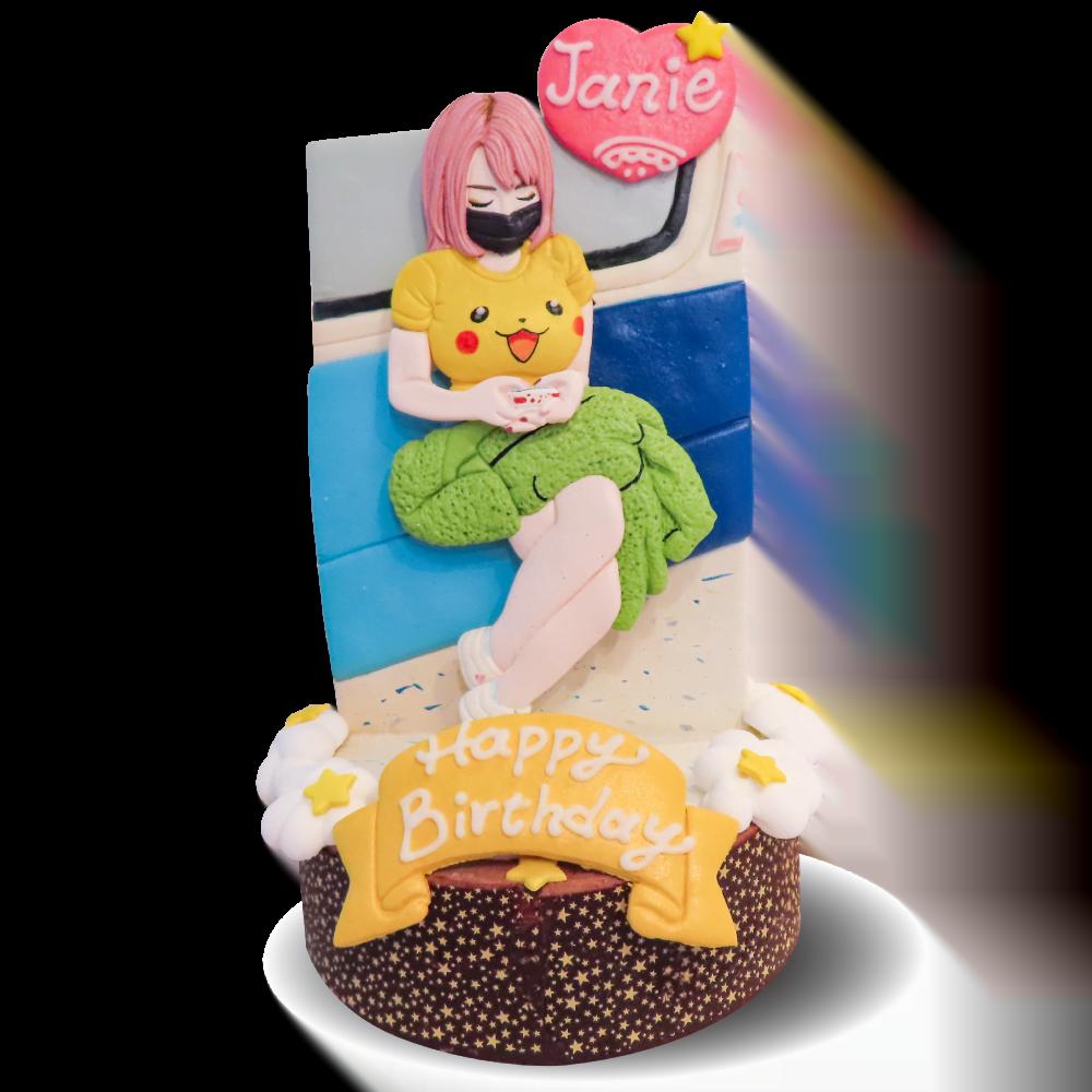 2D直立式人像造型蛋糕-客製化生日蛋糕|米爾利甜點創作 Meler Patisserie